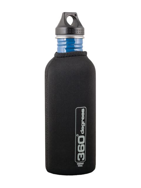 360° degrees Stainless Drink Bottle Neoprene Pouch 1000ml black